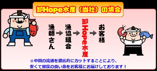 卸Hope水産(当社)の場合